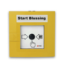"Handbrandmelder geel ""Start blussing"""